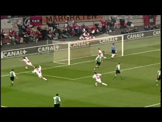 Аякс - Фейеноорд (2:0) Рафа ван дер Ваарт - удар Скорпиона