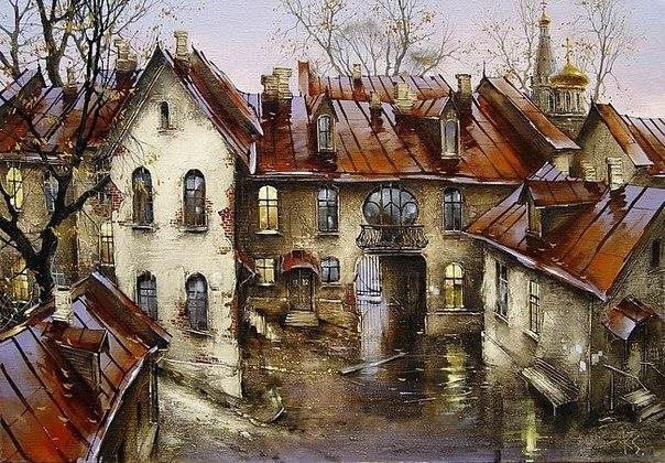 Городские пейзажи художника – это старый город, которого уже нет или которого скоро не будет.