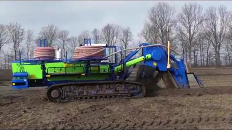 Intelligent Technology Modern Mega Machines Field Drainage Ditchers, Trenchers and Drain Plows