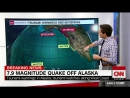 Tsunami warnings canceled after magnitude-7.9 earthquake off Alaska