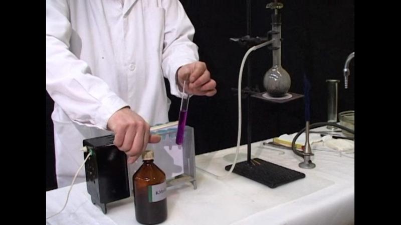 Взаимодействие этилена с раствором перманганата калия