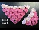 Crocodile Stitch mit Farbwechsel häkeln - TEIL 1 aus 2 - Schuppenstich - Krokodilstich bekannt