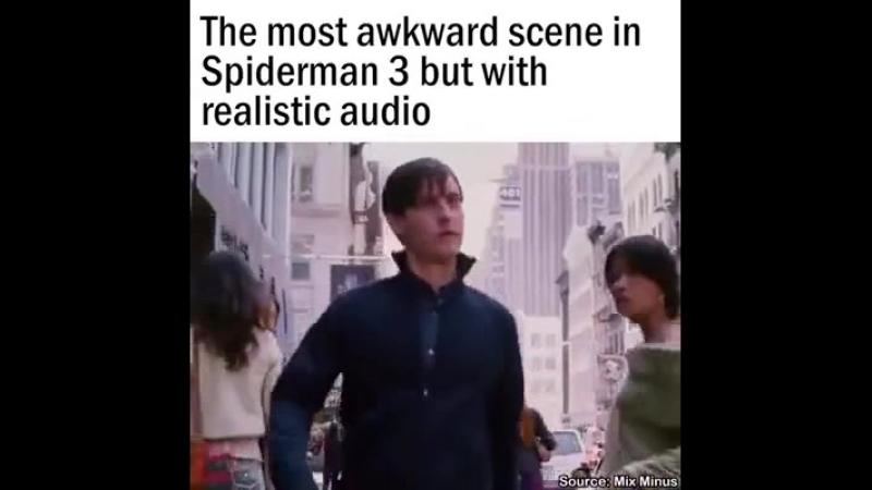 Сцена из человека паука без музыки.