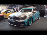 VW Tiguan MK2 R-Line ultralow Airride APR TIGGI Vossen wheels Tuningworld Bodensee 2017