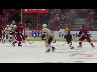 Penguins score on one-timer tip by Hornqvist