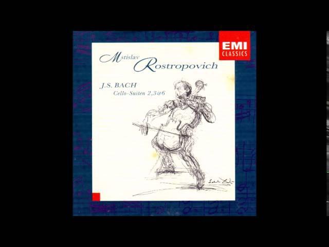 Rostropovich, Cello, interpreta: Bach, Cello Suites nr 2, 3 6