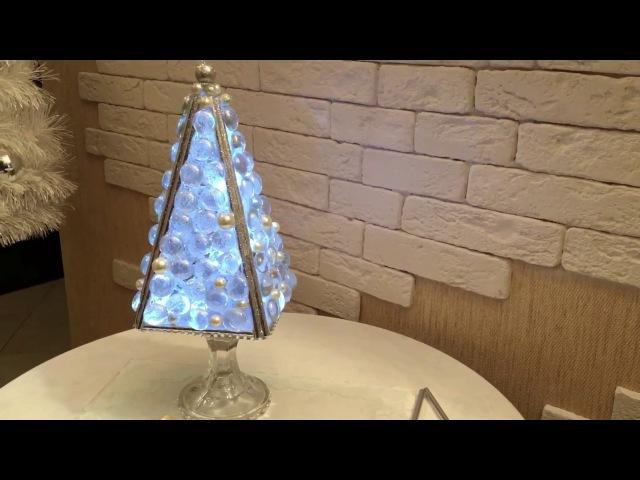 DIY Поделки из FIX price! Елочка-лампа! Елочка из картона! decor for new Year