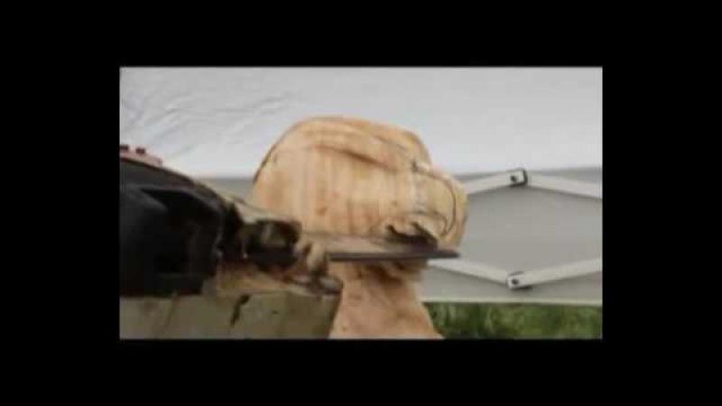 ястреб и орел бензопилой из дерева