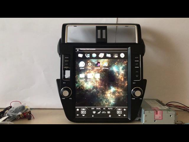Обзор Магнитолы MegaZvuk AD-12104 на Toyota LC Prado 150 2013 Android 6.0.1
