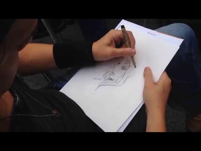 Paul Pope dibuja a Aurora West en las Jornadas del Cómic de Avilés 2015
