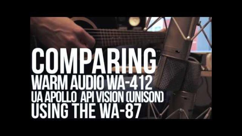 Comparing Warm Audio WA-412 and UA Apollo API Vision unison preamp