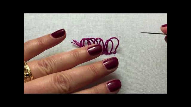 Fringe Stitch or Turkey Work Hand Embroidery Tutorial