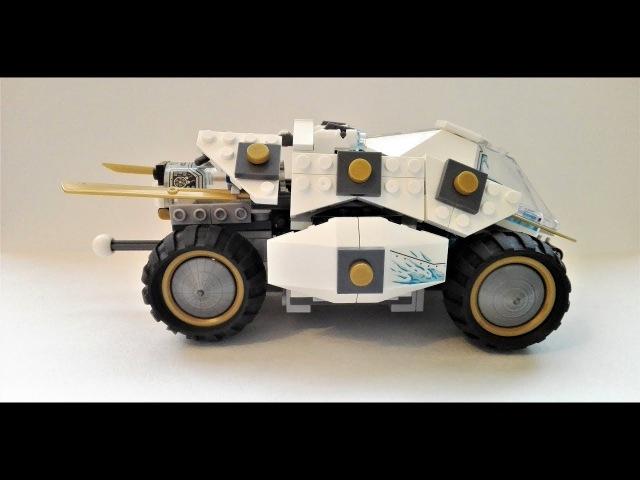 Инструкция по сборке Лего. Lego NINZA Thunder Swordsman. Внедорожник