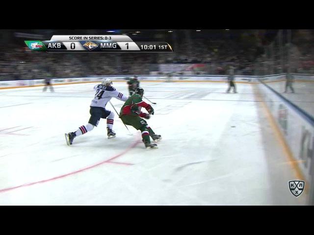 Моменты из матчей КХЛ сезона 16 17 Удаление Михаил Глухов Ак Барс удалён на 2 минуты за опасную игру высоко поднятой клюшко