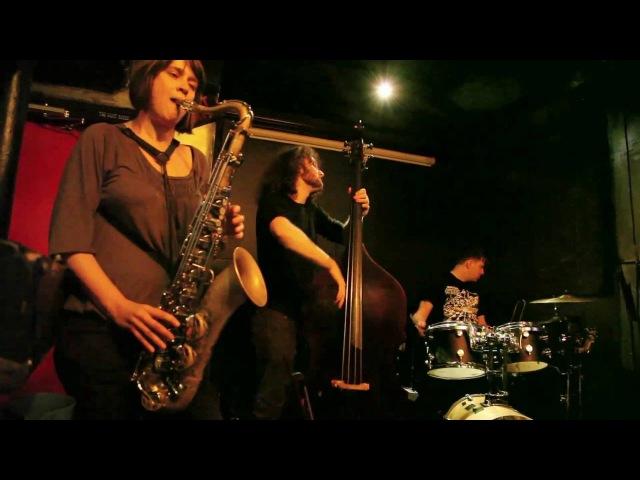 Ingrid Laubrock, Max Johnson, Weasel Walter - Freddy's Back Room, Brooklyn - March 31 2012