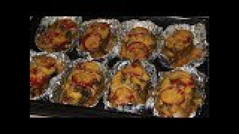 Кета, запеченная в духовке с сыром и помидорами в фольге Рыба в духовке
