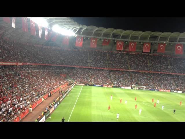 Türkiye Hollanda Taraftar Konya Torku Arena Ne Mutlu Türküm Diyene