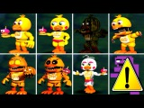 Five Nights at Freddy's 1 2 3 4 5 6 ALL CHICA ANIMATRONICS FNAF 2018