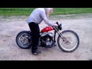 Harley 45 kickstart magneto rat chopper racer WL (2)
