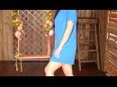 Синее платье-кокон в стиле оверсайз П 079 от интернет-магазина Мода 37