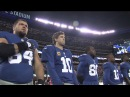 ANNIE on Broadway: Lilla Crawford sings the National Anthem for the NY Giants