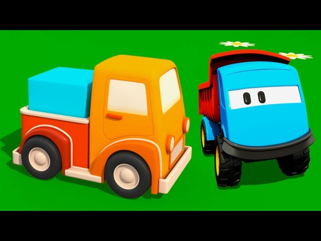 Léo o caminhão curioso. Uma pick-up. Animação infantil