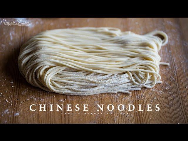 生麺ならではの食感とコシ!自家製中華麺の作り方:How to make Chinese Noodles | Veggie Dishes by Peaceful Cuisine