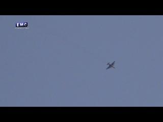 إصابة طائرة روسية su  جراء إستهدافها بالمضاد&