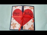A Beautiful Birthday card idea for BOYFRIEND complete tutorial