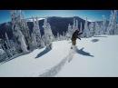 Красивое видео серфинг на сноуборде в лесу
