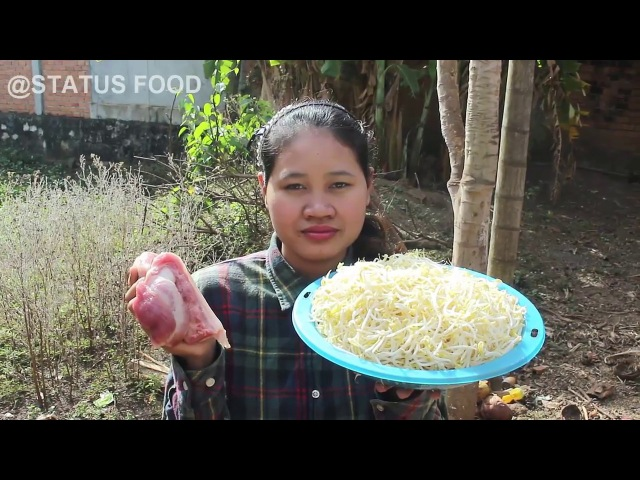 Awesome Cooking Fried Pork With Beansprouts Recipes - Fried Tofu Recipes - Village Food Factory