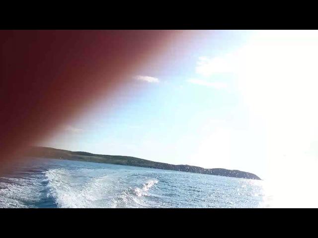 Дорога на моторке с Острова Рейнеке во Владивосток