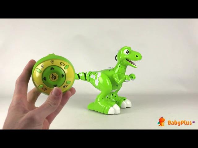 Динозавр ру, аккум, 32см, ездит, танцует, звук, свет, USB зарядное, в коробке