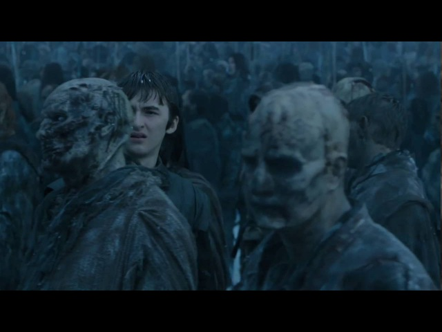 Bran Stark seen and touched by a White Walker