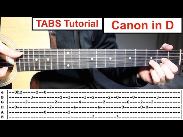 Canon in D Fingerstyle TABS Guitar Lesson Tutorial How to play Canon in D with Tabs