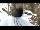 Trains Driver's View - Cab Ride Norway in Winter - 16 Tunnel - 2 Bridges ! very Beauty