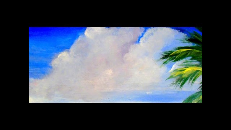 How to paint beautiful FlUFFY CLOUDS with Acrylic Paint 6 different ways step by step