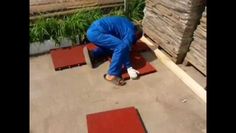Укладка площадки из резиновой плитки от Садового центра Аллея Нижний Новгород