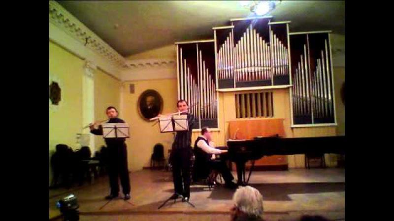 Денис Смирнов, Ярослав Куцан (2 флейты) и ф-но - Paraphrase La Sonnambula (11.04.2011; муз.: Albert Franz Doppler)