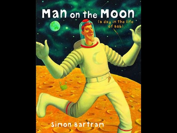 Buzzing for Books Man on the Moon - by Simon Bartram