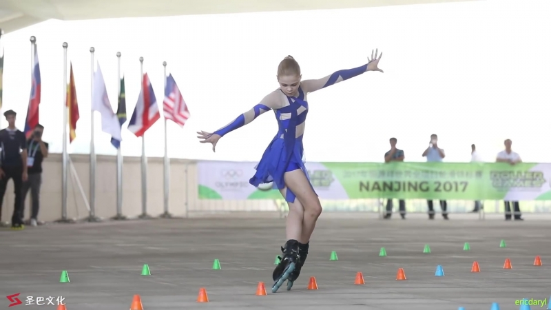 2017 Roller Games,Junior Women Classic Slalom 1st,Sofia Bogdanova