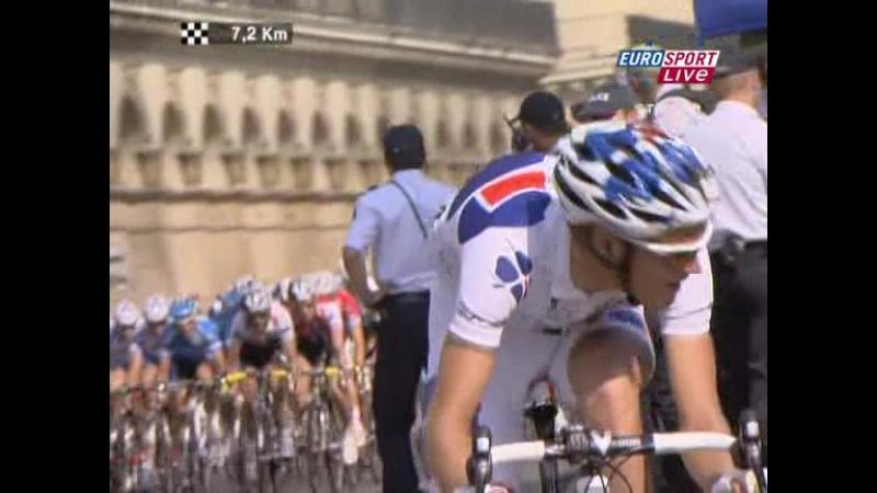 Tour de France 2008 21 (Etampes - Paris, Champs Elysees) Eurosport (RUS) Part 2