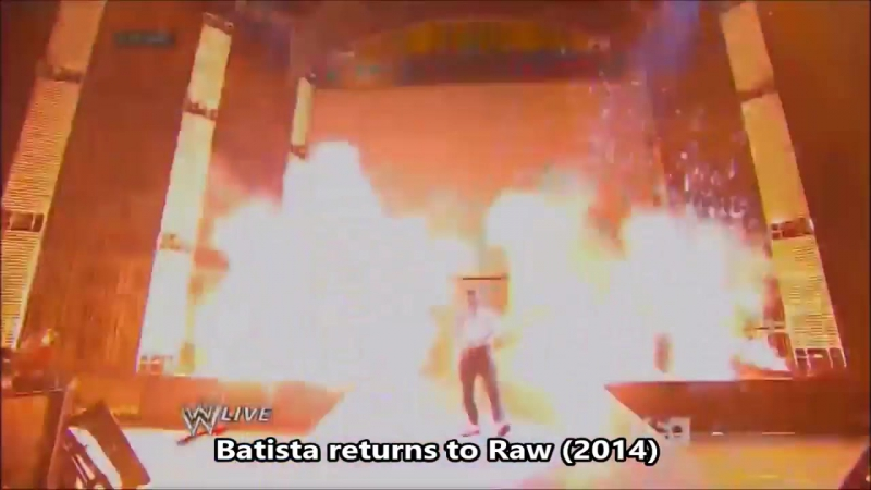 Wrestling returns with pyrotechnics.