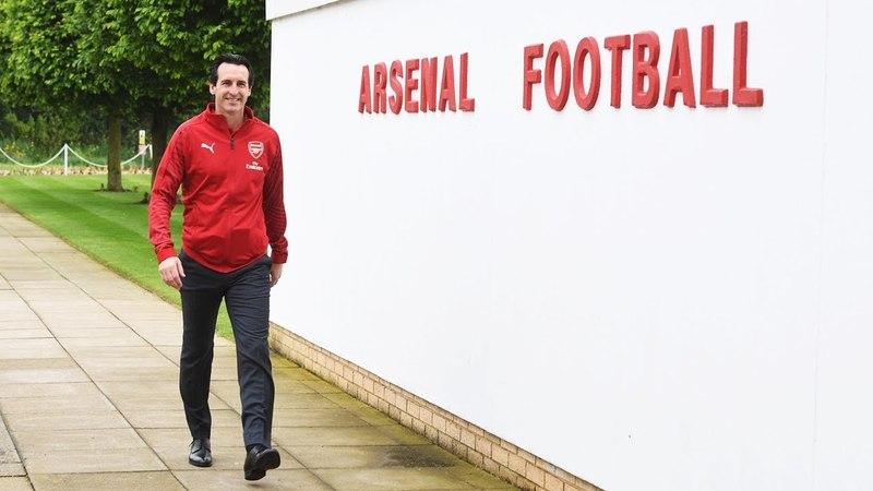 Первый день Унаи Эмери на тренировочной базе <<Арсенала>> в Колни.