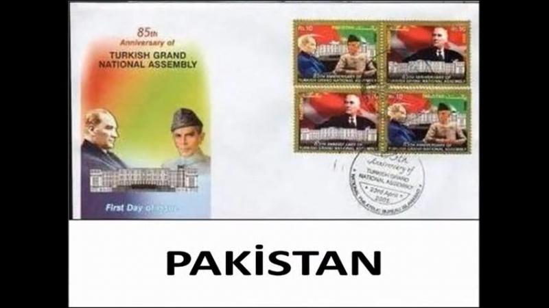Atatürk İçin Posta Pulu Basan Ülkeler
