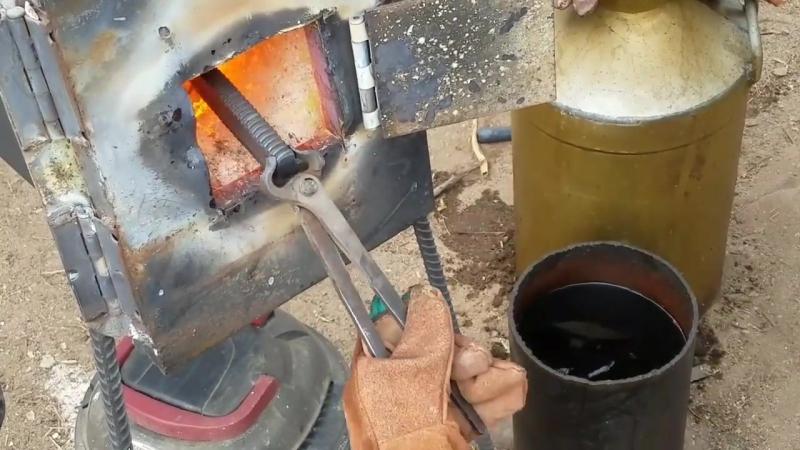 Ковка ножа из трубного ключа