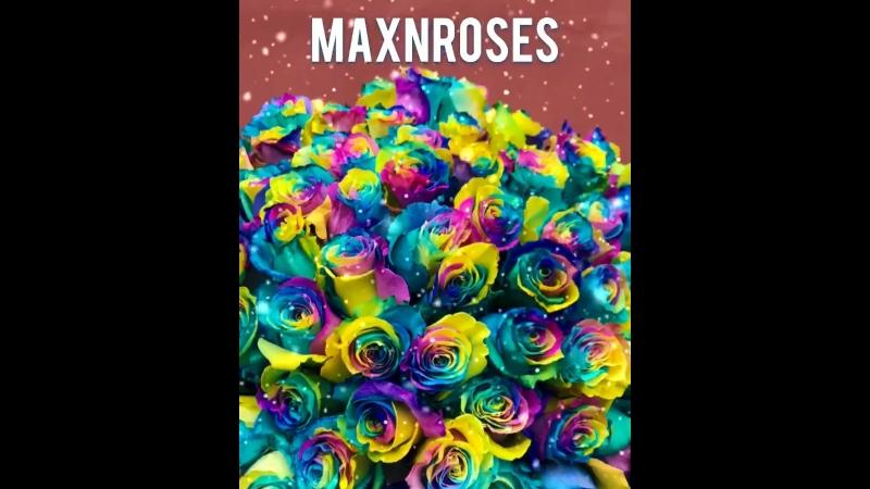 Радужные розы в Красноярске!