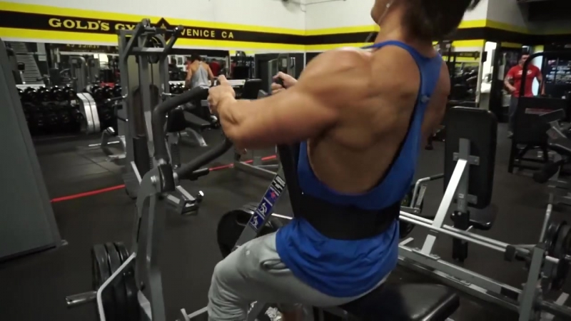 Chest and Back Arnold Style Workout at the Mecca Golds Gym Venice w Jeff Seid