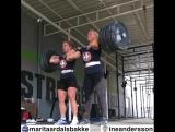 Парный толчок 178 кг в исполнении девушек
