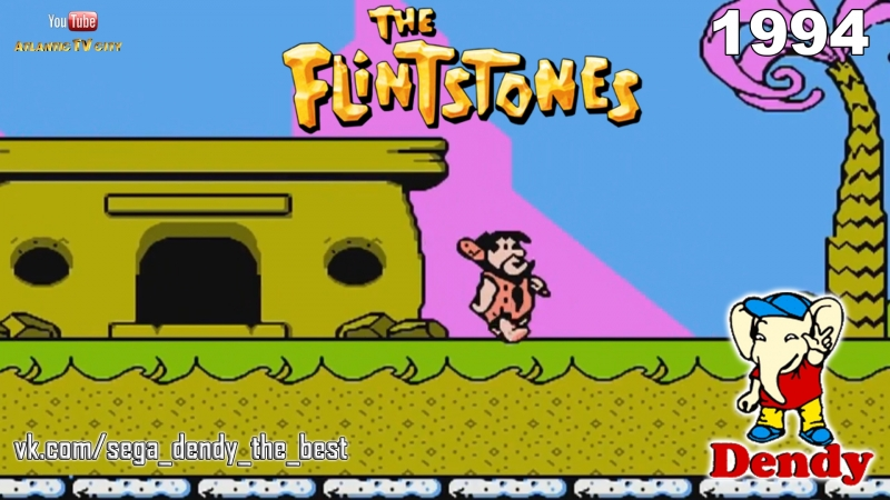 Флинстоуны 2 Cюрприз динозавра Пика Денди The Flintstones 2 The Surprise at Dinosaur Peak NES